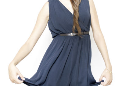 Navy blue dress 1